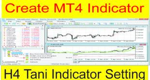 Create H4 Indicator in 2 Mints Tani Forex MT4 Indicator setting