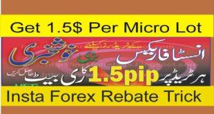 1.5$ Per Lot Rebate| Get Insta Forex Broker Free Rebate| Insta Forex Special Tutorial in Hindi Urdu