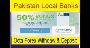 Octa Forex Deposit and Withdraw Through Local Banks in Pakistan | Octa FX Forex Broker by Tani Forex