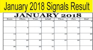 January 2018 Signals Result