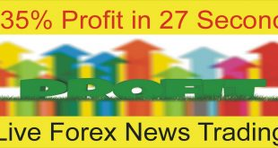 35% Profit in 27 Second Live Forex News Trading