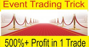 500% Profit in One Event trade special trick
