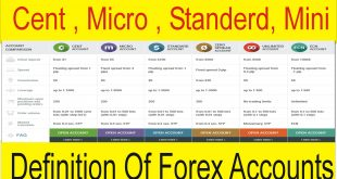 Definition Of Cent Standard Micro And Mini Accounts In Forex Trading Tani Forex Tutorial in Urdu