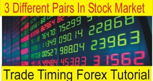 3 Different Pairs Of Stock Market | Forex Market Trading Time